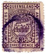(I.B) Australia - Queensland Railways : Parcel 3d - Australie