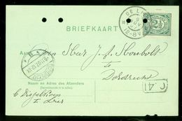 HANDGESCHREVEN BRIEFKAART Uit 1907 NVPH 55 Van DISSELKOEN Te DE LIER Naar DORDRECHT  (10.656n) - Periode 1891-1948 (Wilhelmina)