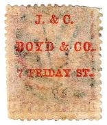 "(I.B-CK) QV Postal : ""J & C Boyd & Co"" Underprint (SG 43) - 1840-1901 (Victoria)"
