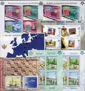 CEPT LATVIA BL21/HRVATSKA Bl.27/CRNA GORA Bf 3,2A+B/Serbija Blocks 13A+B ** 260€ Hojas M/s Blocs Ss Sheets Of Topic - Gemeinschaftsausgaben
