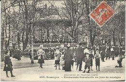 France > [25] Doubs > Besancon CPA 495 . - Besancon - Promenade Grandvelle Un Jour De Musique - Besancon