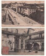 """64 - SAINT-JEAN-DE-LUZ . """" LE BOULEVARD THIERS """" & """" PUITS DE LA DOUANE """" . 2 CARTES POSTALES - Réf. N°5080 - - Saint Jean De Luz"""