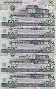COREE DU NORD 500 WON 1998(2007) UNC P 55 ( 5 Billets ) - Corée Du Nord