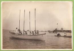 Florianópolis - REAL PHOTO - Barco A Remos Comandante Gouveia - Regata - Boat - Ship - Bateau - Brasil - Otros