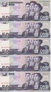 COREE DU NORD 50 WON  2009 UNC P 60 ( 5 Billets ) - Corée Du Nord