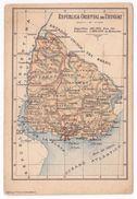 URUGUAY Map Carte Geographique Ed. Salvat Barcelona Rius Montevideo - Uruguay