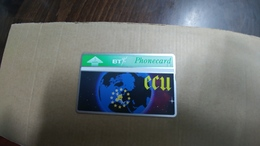 United Kingdom-(bto038)-ECU/planet Earth-(5units)(306c)-tirage-5.000-mint+1card Prepiad Free-(price Cataloge-5.00£ - BT Overseas Issues