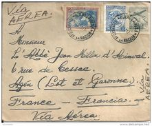 Marcophilie  Argentine BUENOS AIRES , VIA AEREA  1951 - Poste Aérienne
