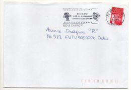 """Flamme  -1999--BOIS D'ARCY-78- """"Cité Du Patrimoine Cinématographique (caméra)  """" Type Marianne Luquet......à Saisir - Postmark Collection (Covers)"""