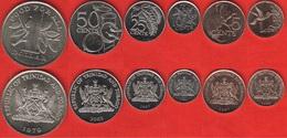 Trinidad And Tobago Set Of 6 Coins: 1 Cent - 1 Dollar 1979-2008 UNC - Trinité & Tobago