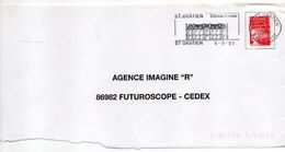 "Flamme  -1999--St GRATIEN--95 "" Chateau Catinat  "" Type Marianne Luquet......à Saisir - Postmark Collection (Covers)"