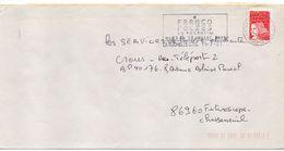 """Flamme Temporaire -2001--LA ROCHELLE--17 """" Francofolies (festival,musique)  """" Type Marianne Luquet......à Saisir - Postmark Collection (Covers)"""