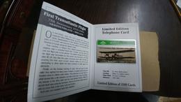 United Kingdom-(bto080)1st Transatlantic Flight(5units)(407l)tirage1.406mint+1card Prepiad Free-(price Cataloge-10.00£ - BT Overseas Issues