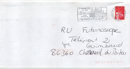 """Flamme -2001--St MARTIN DE RE--17 """" Remparts,port  """" Type Marianne Luquet......à Saisir - Marcophilie (Lettres)"""
