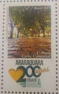L) 2017 BRAZIL, 200 YEARS OF ARARAQUARA CITY, TREES, CITIES, 1º PORTE COMMERCIAL LETTER, TOURIST, MNH - Brazilië
