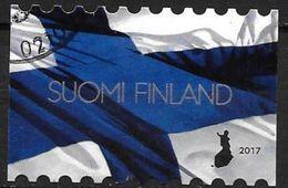 Finlande 2017 Timbre Oblitéré Drapeau - Finland