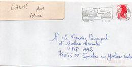 """Flamme -1990--POISSY--78 """"Villa """"Le Corbusier,collégiale Capétienne """" Type Marianne Liberté......à Saisir - Marcophilie (Lettres)"""