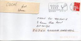 """Flamme Temporaire--2000--QUEVEN-29 """"Queven 2000--Des Racines D'hier ..mémoire De Demain"""" Type Marianne Luquet...à Saisir - Postmark Collection (Covers)"""