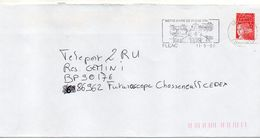 """Flamme --2000--FLEAC-16 """" église Notre-Dame De Fléac--12° Siècle """"-- Type Marianne Luquet...à Saisir - Marcophilie (Lettres)"""