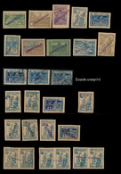 #565 Azerbaijan - Small Group Of Provisional Overprints, 1922, 35 Mint And Used (5) Stamps, Bearing Various Local Overpr - Azerbaïjan