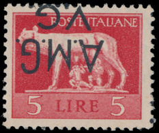 """#681 Italy - Allied Military Government (A.M.G.) - Veneza Guilia, Scott #1LN6 Var, 1946, Inverted Overprint """"A.M.G. V.G. - Trieste"""