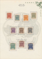 #1338 Tannu Tuva - Collection In Illustrated Album, 1926-43, Over 250 Mint And Used Stamps, Singles, Pairs, Blocks And C - Tuva