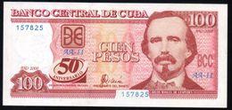 C / 100 PESOS 2000 Serie AA-11 50TH ANNIVERSARY PICK 120  UNC RARE - Cuba