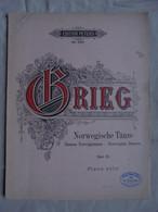 Ancienne Partition Danses Norvégiennes De Grieg Pour Piano - Instruments à Clavier