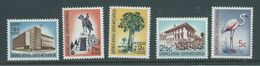 South West Africa 1962 - 66 Unwatermarked Definitives Part Set Of 5 MNH - Südwestafrika (1923-1990)