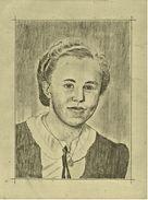 Bleistiftzeichnung - Frauenporträt  -  Ca. 1935  -  Ca. 22 X 29 Cm Größe - Andere Sammlungen
