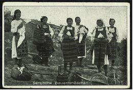 Serbische Bauernmädchen  -  Ansichtskarte Ca. 1948   (7818) - Europe