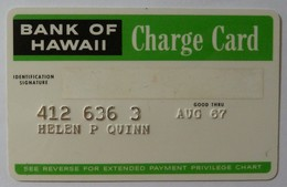 USA - Bank Of Hawaii - Charge Card - Early Trial - Credit Card - 1966 - Credit Cards (Exp. Date Min. 10 Years)