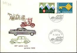 Suisse Poste Obl Yv: 803-806 Yv:0,50 Euro 38.Salon Auto Genève (TB Cachet à Date) - Switzerland