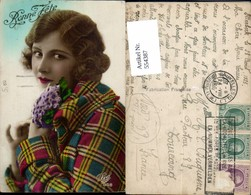 554387,tolle Foto-AK Frau Mode Portrait Art Deco Fashion Mantel - Mode
