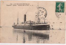 LA PALLICE -ROCHELLE-PAQUEBOT ORIANA RENTRANT DANS LE PORT - La Rochelle