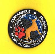 INSIGNE PATCH GENDARMERIE NATIONALE LE GNIC CYNOPHILE (CAOUTCHOUC) ETAT EXCELLENT SUR VELCROS - Police & Gendarmerie