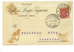 QUARONA CARTOLINA COMMERCIALE FILATURA ZIGNONE - Vercelli