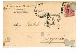 QUARONA SESIA CARTOLINA COMMERCIALE LANIFICIO DI QUARONA - Vercelli