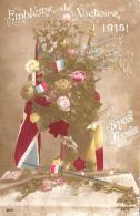 [DC11045] CPA - PATRIOTTICA - EMBLEME DE VICTOIRE - BONNE ANNEE - Viaggiata 1915 - Old Postcard - Patrióticos