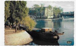 PARIS - N° 314 - POINTE DE L' ILE SAINT LOUIS AVEC PENICHE - FORMAT CPA VOYAGEE - De Seine En Haar Oevers