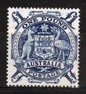 Australia Single High Value £1 Blue Stamp Issued In 1949. - 1937-52 George VI