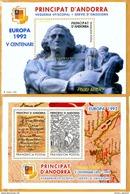 Andorra Viguerie Andorre**LUXE 1992 Bloc Feuillet 24 Et 25 La Paire, Europa - Timbres