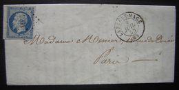 1855 La Ferté Macé (orne) Pc 1264 Lettre Pour Paris - Marcophilie (Lettres)