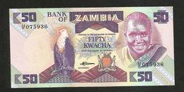 ZAMBIA - BANK Of ZAMBIA - 50 KWACHA (1986 - 1988) - Zambia
