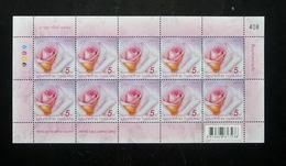 Thailand Stamp FS 2015 Symbol Of Love - Rose Princess Maha Chakri Sirindhorn - Thaïlande