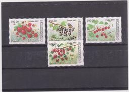 UZBEKISTAN  2007   FRUITS - FRÜCHTE - Berries Set With 4 Val    MNH** - Frutas