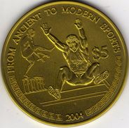 Liberia 5 Dollars 2004 UNC Niobium, Sport, Ship, Rare! - Liberia