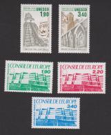 N° 91-92-93-94-95 **  Conseil De L'Europe Et U.N.E.S.C.O.  YT 7,90 € - Neufs