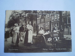 Amsterdam // Straatleven // Paling,Paling In De Jordaan Gelopen 1911 Uitg. Berg Co // Zeldzaam - Top Kaart - Amsterdam