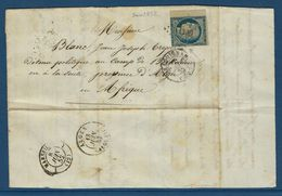 Destination Au Camp De Birkadem En Algérie, Détenu Politique En 1852 - Marcophilie (Lettres)